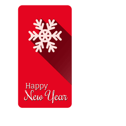 Schneeflocke Weihnachten Label