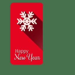 Snowflake christmas label