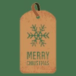 Etiqueta de navidad copo de nieve