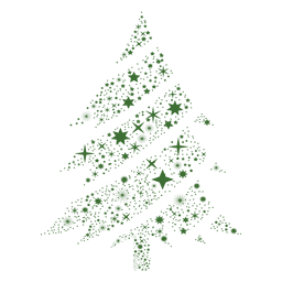 árbol de navidad del copo de nieve