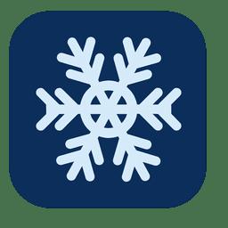 Icono cuadrado de copo de nieve
