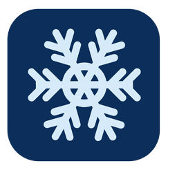 Snowflake square icon