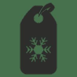 Schneeflocke-Tag-Symbol