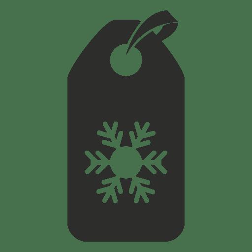 Icono de etiqueta de copo de nieve