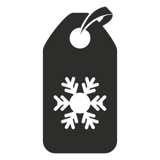 Snowflake tag icon - Transparent PNG & SVG vector