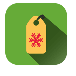 Snowflake tag square icon