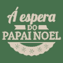 Etiqueta portuguesa de navidad copos de nieve