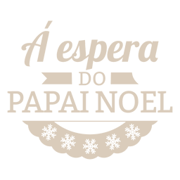 Snowflakes christmas portuguese label