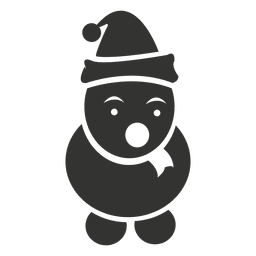 Ícone de boneco de neve preto