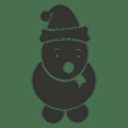 Icono de muñeco de nieve negro