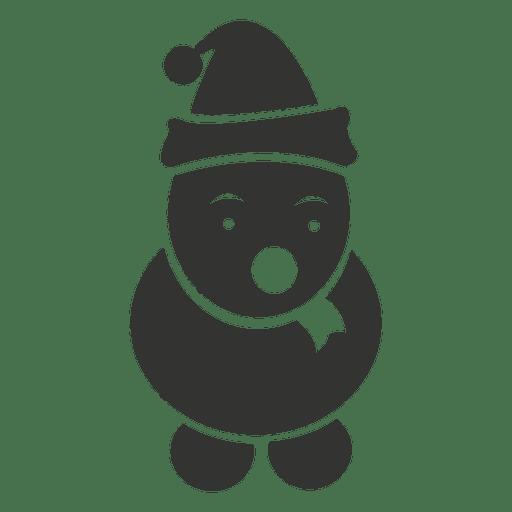 Icono de muñeco de nieve negro Transparent PNG