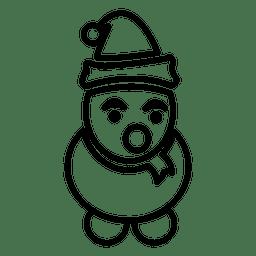 ícone da linha de boneco de neve
