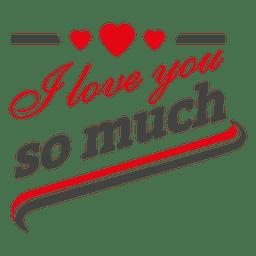 Tanto es el amor etiqueta