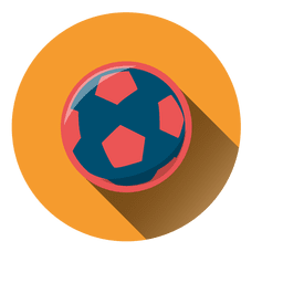 Soccer ball circle icon