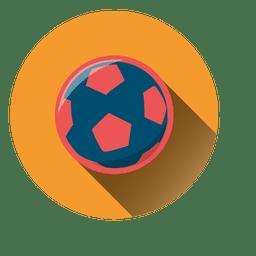 Soccer ball circle icon