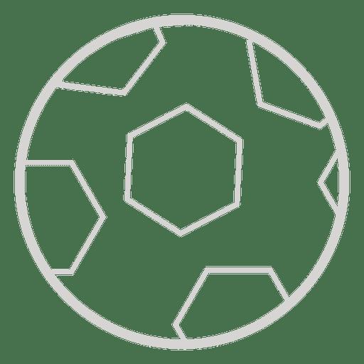 Icono de pelota de futbol Transparent PNG