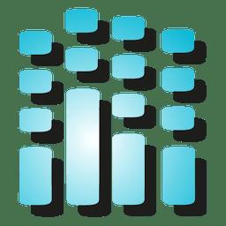 Icono de ecualizador de sonido
