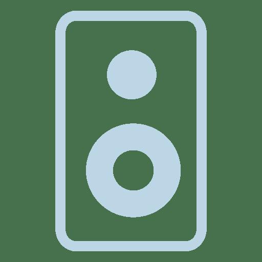 Ícone da linha de alto-falante Transparent PNG