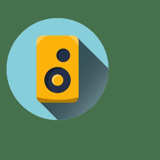 Ícone redondo de alto-falante Transparent PNG
