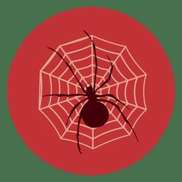 Icono de círculo de tela de araña