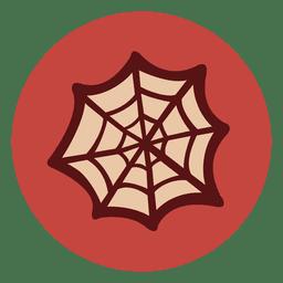 Icono de círculo de tela de araña 1