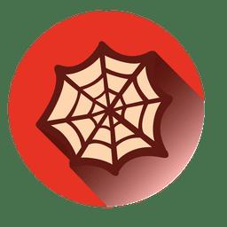 Icono redondo de tela de araña