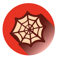 Spider web round icon