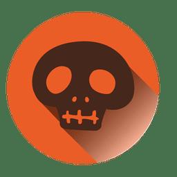 Crânio assustador rodada ícone