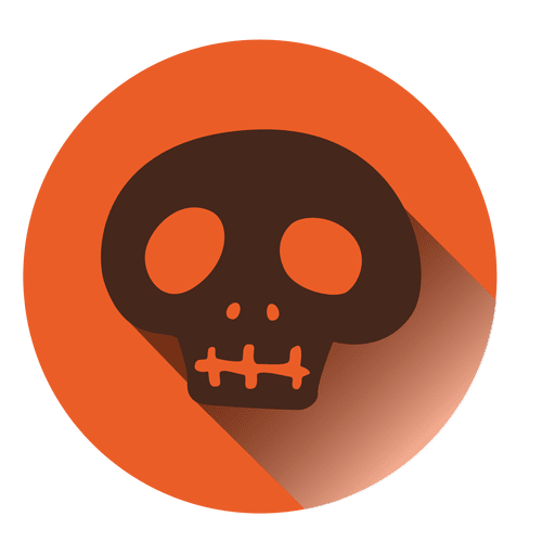 Spooky skull round icon Transparent PNG