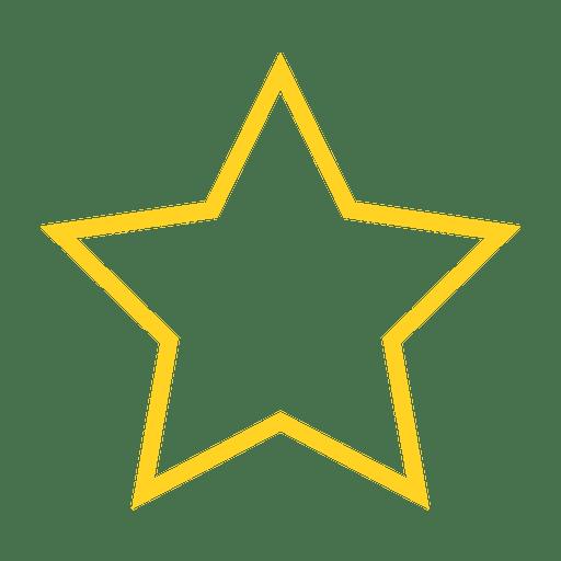 Icono de contorno favorito de estrella Transparent PNG