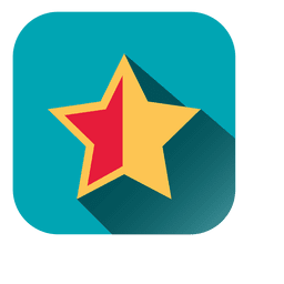 Star Square Flat Design Icon