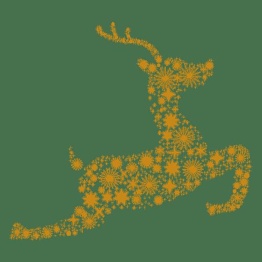 Los copos de las estrellas forman un reno Transparent PNG