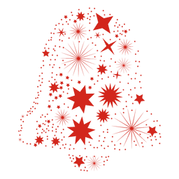 Campana de navidad forma estrellas