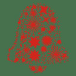 Stars form christmas bell