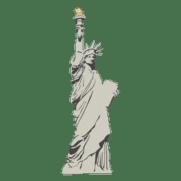 Estatua de dibujos animados de la libertad