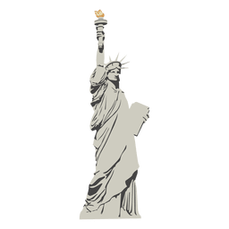 Estátua dos desenhos animados da liberdade