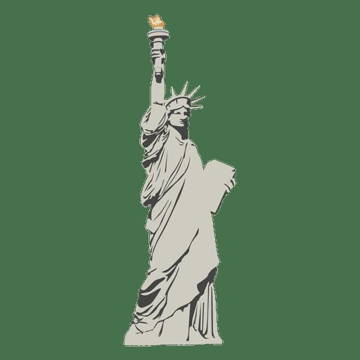 Estatua de dibujos animados de la libertad Transparent PNG