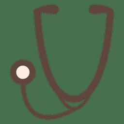 Silhueta de ícone de estetoscópio