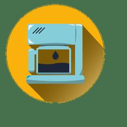 Stitch machine round icon