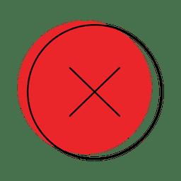 Pare o ícone do botão