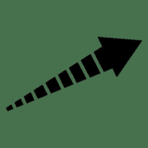 Striped right corner arrow
