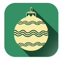 Stripy bauble square icon