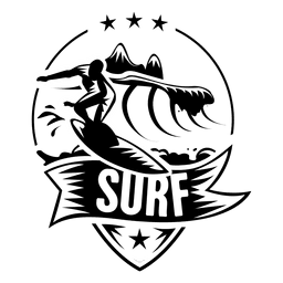 Surfing sport label
