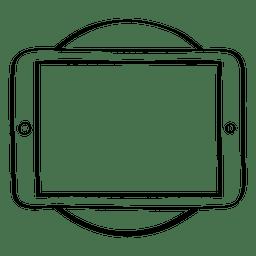 Doodle de círculo de tabulação