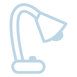 Table lamp line icon