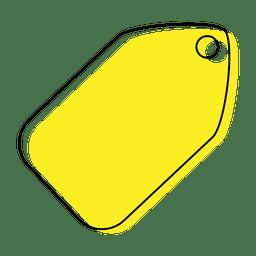 Ícone de marca amarela