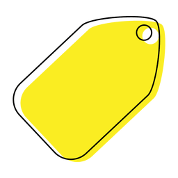 Icono de etiqueta amarilla