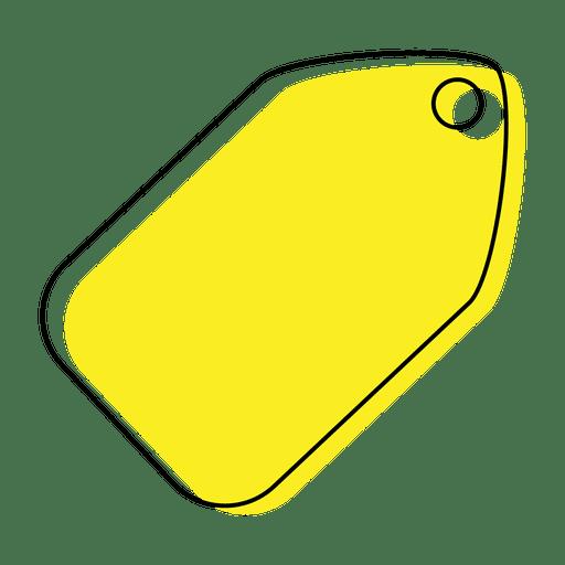 Icono de etiqueta amarilla Transparent PNG