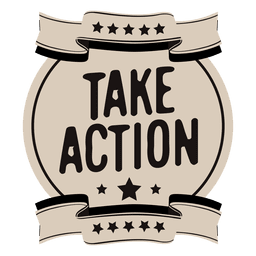 Take action motivational label
