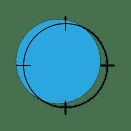 Ícone de localização de segmentação
